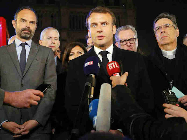 Emmanuel Macron Ajak Warga Perancis Bangun Kembali Katedral Notre Dame Paris