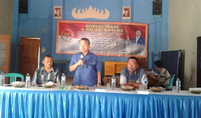 Alimin Abdullah Sosialisasikan Empat Pilar MPR-RI di Kampung Purwodadi Kecamatan Bangun Rejo Lampung Tengah