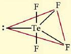bentuk senyawa TeF4