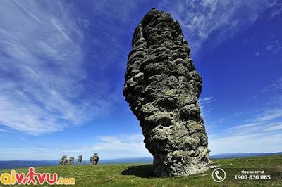 Cột đá tại cao nguyên Man Pupu Nyor