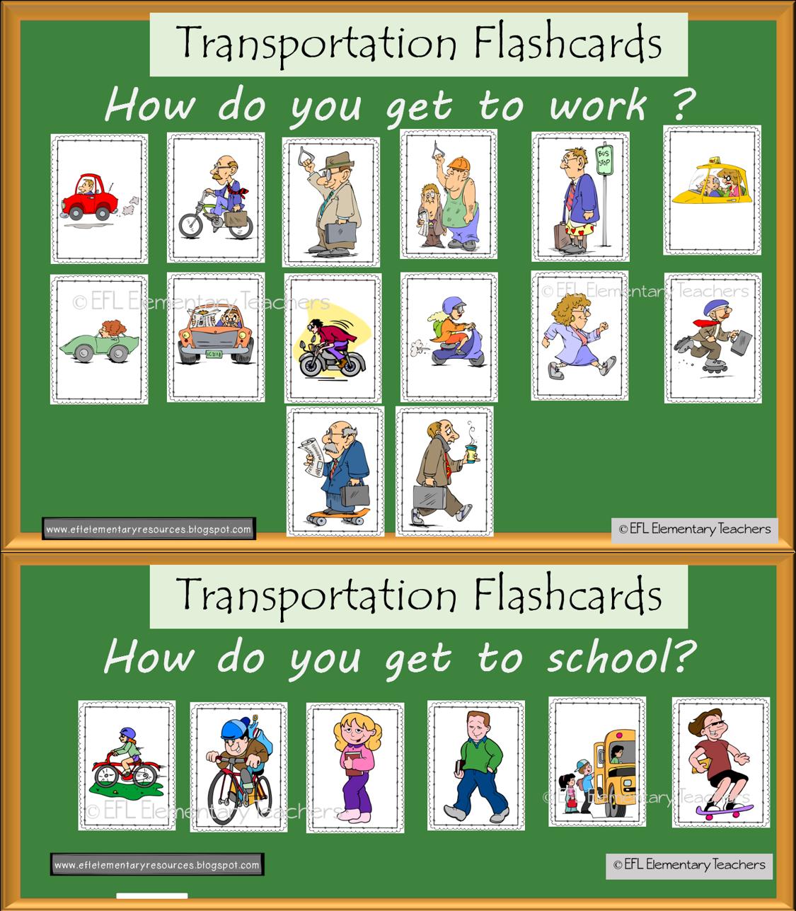 Efl Elementary Teachers Transportation Theme For