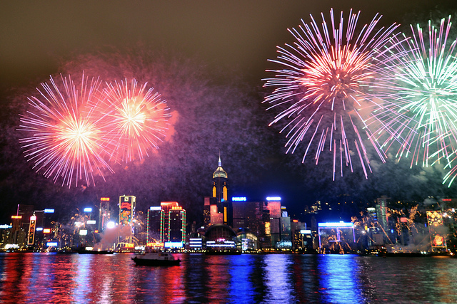 Hong Kong New Years Eve 2017 Images