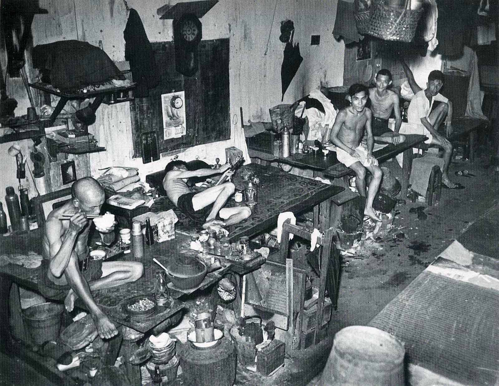 Opium Den In Singapore 1941