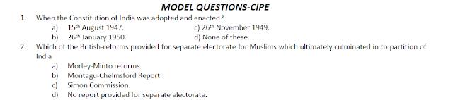 CIP Model Questions