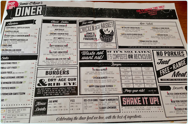 Jamie Oliver's Diner, London - Menu