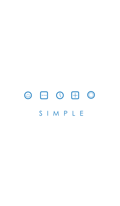 SIMPLE(white blue)V.2