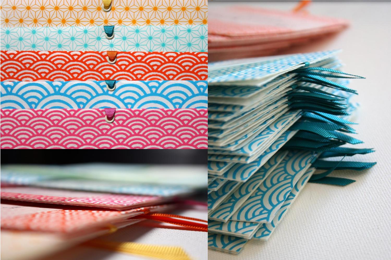 faire-part mariage graphique papier japonais fait main cadeau invité