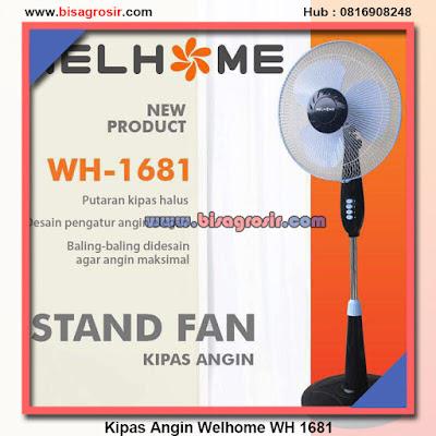 Welhome WH 1681 Kipas Angin Stand Fan Watt Rendah