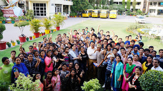 Green Land students celebrating their success in CBSE class 10th result