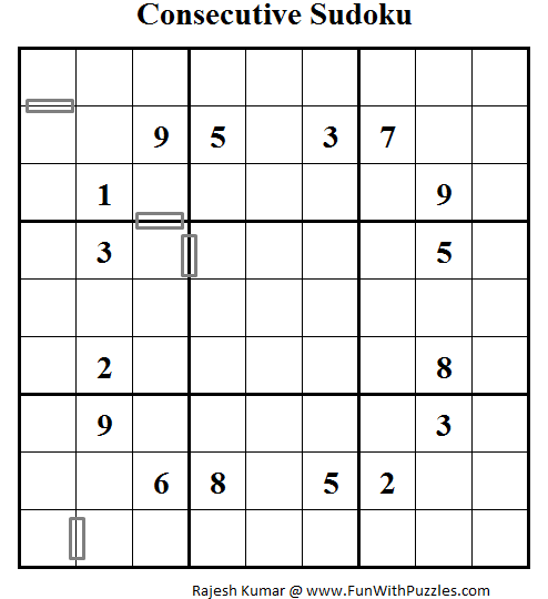 Consecutive Sudoku (Daily Sudoku League #60)