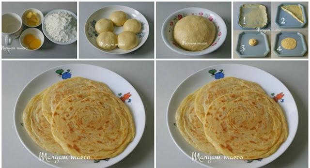 Resep Roti Maryam 7 Ribuan. Cukup Dengan 3 Bahan Saja
