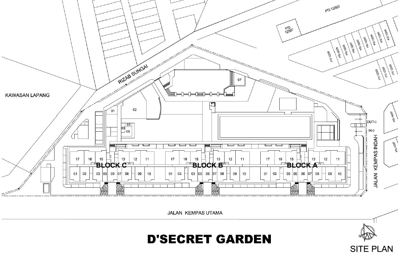D'Secret Garden @ Kempas Indah Site Plan