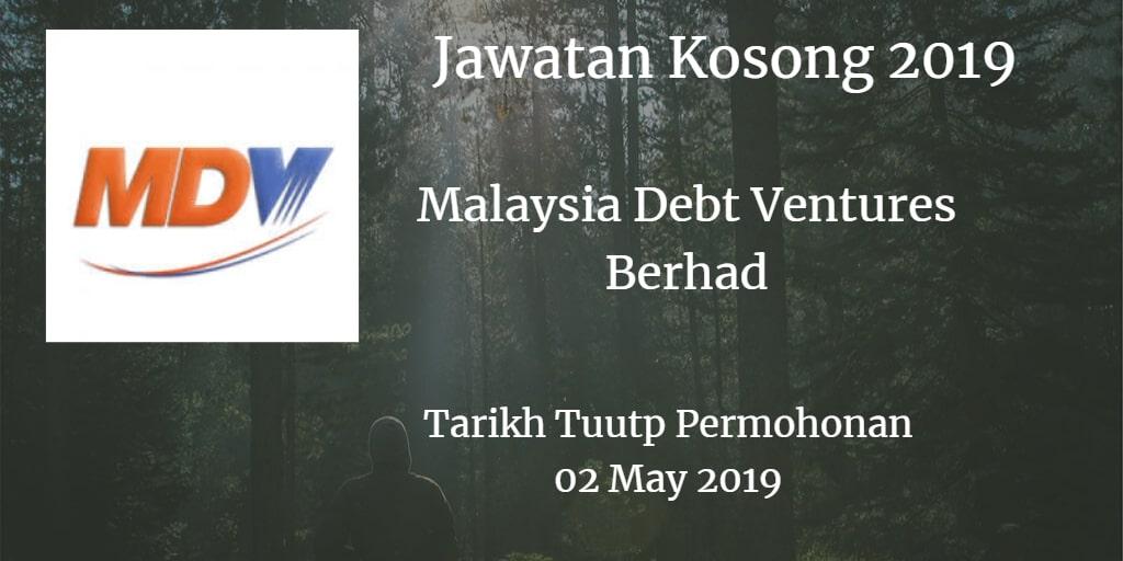 Jawatan Kosong Malaysia Debt Ventures Berhad 02 May 2019