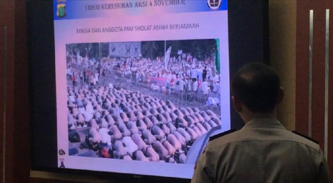 Putar Rekaman Video Demo 4 November, Polisi: Lihat Siapa yang Duluan Anarkis?