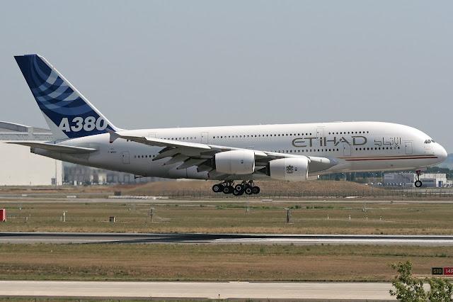 Etihad Airways Airbus A380-800 First Flight