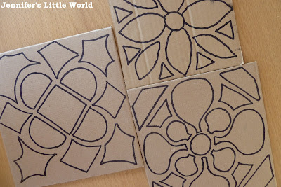 Outlines for dyed rice rangoli