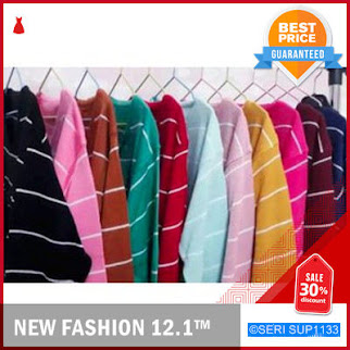 SUP1133S24 Sweater Bershka Rajut Adeline Stripe Murah BMGShop