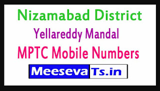 Yellareddy Mandal MPTC Mobile Numbers List Nizamabad District in Telangana State