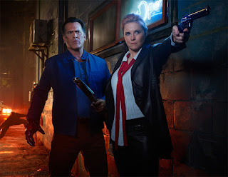 Starz TV Ash vs Evil Dead Season 2 teaser with Bruce Campbell as Ash and Lucy Lawless as Ruby