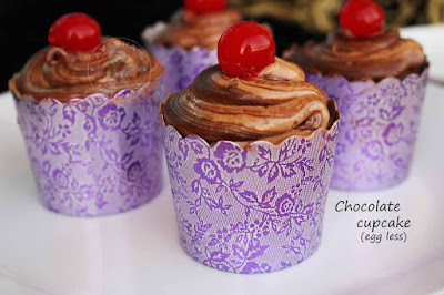 yummy chocolate cupcake eggless recipe with cocoa powder simple easy party ideas kids party sweets treat birthday muffin