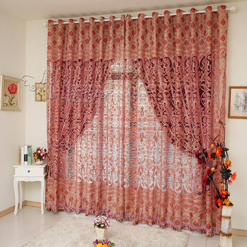 Red Curtains and Window treatments in the interiors living ...