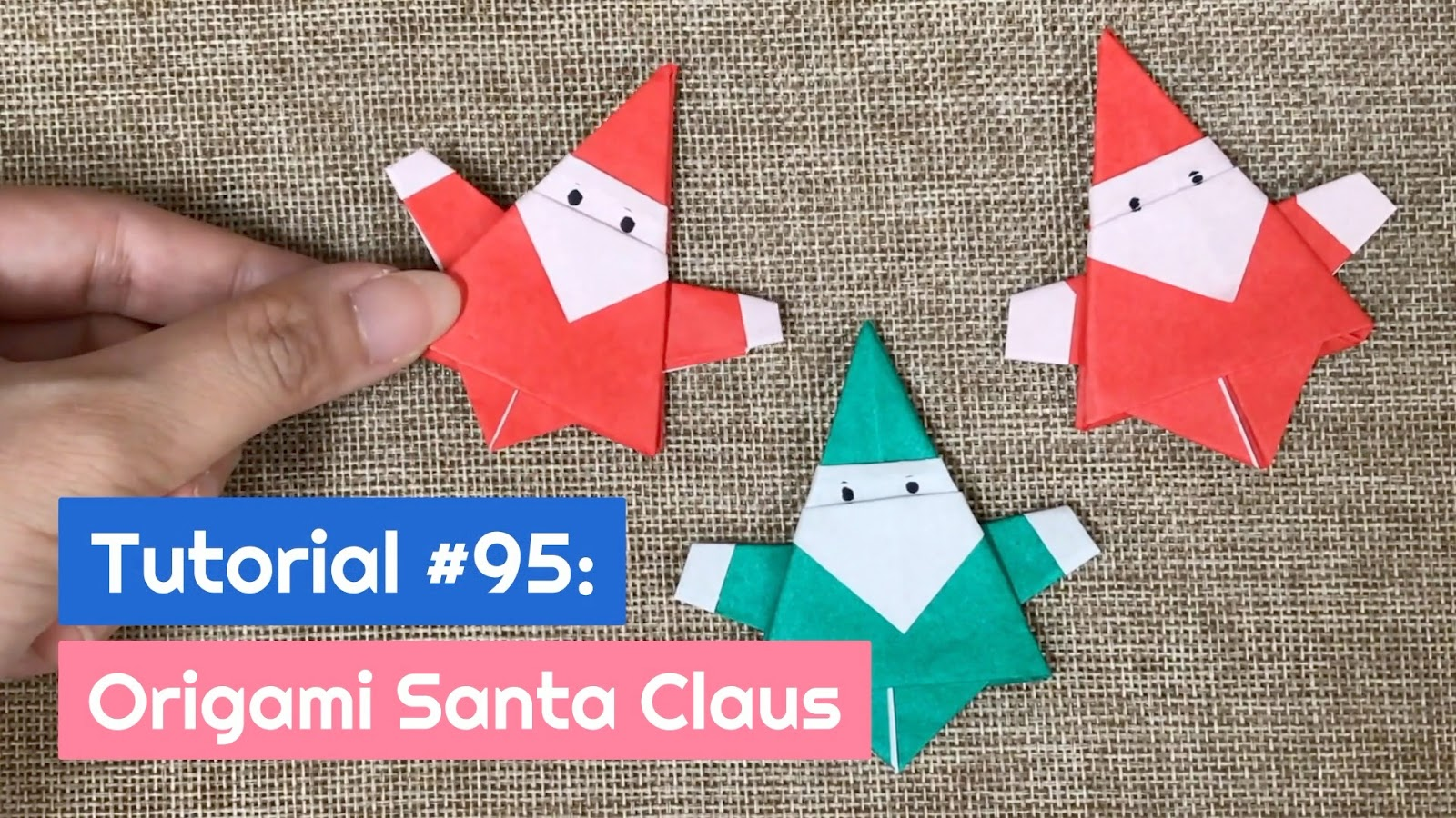 Christmas Origami Santa Claus - Easy origami - How to make an easy ... | 900x1600