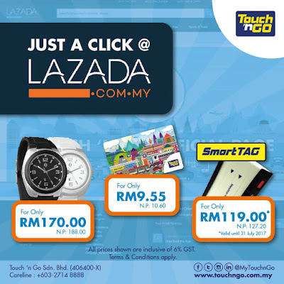 Lazada Malaysia Touch 'n Go Smart Tag Card