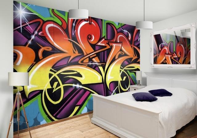 Graffiti tapet Graffiti  sovrum pojkrum ungdomsrum killtapet cool tapet