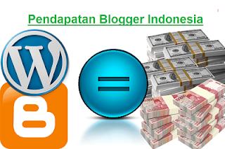 Rata - Rata Pendapatan Blogger Di Indonesia