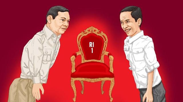 Timses: Jokowi 5 Vs Prabowo Minus 3
