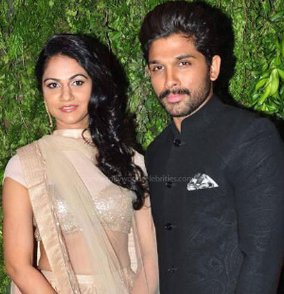 Allu Arjun and his wife: