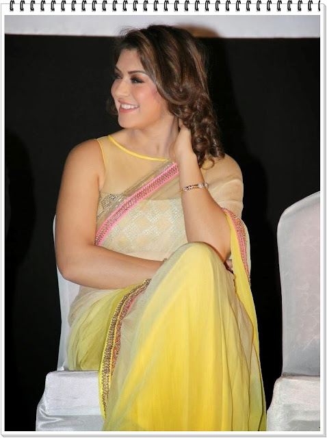 hansika-motwani-hot-in-Saree-photos-2