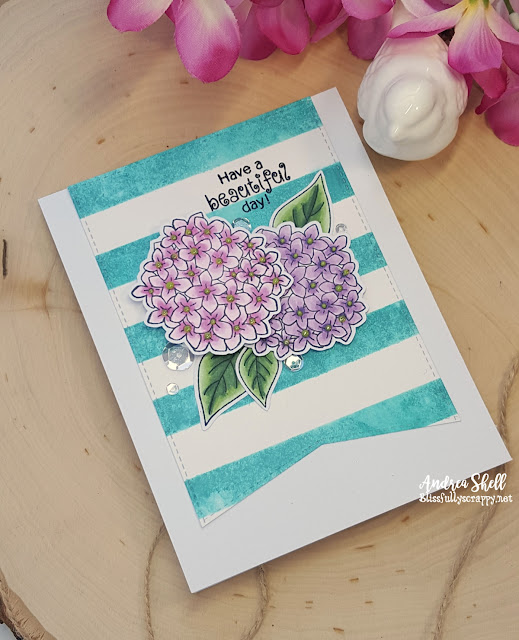 Beautiful Day Card by Andrea featuring Newton's Nook Designs Lovely Blooms  #newtonsnook