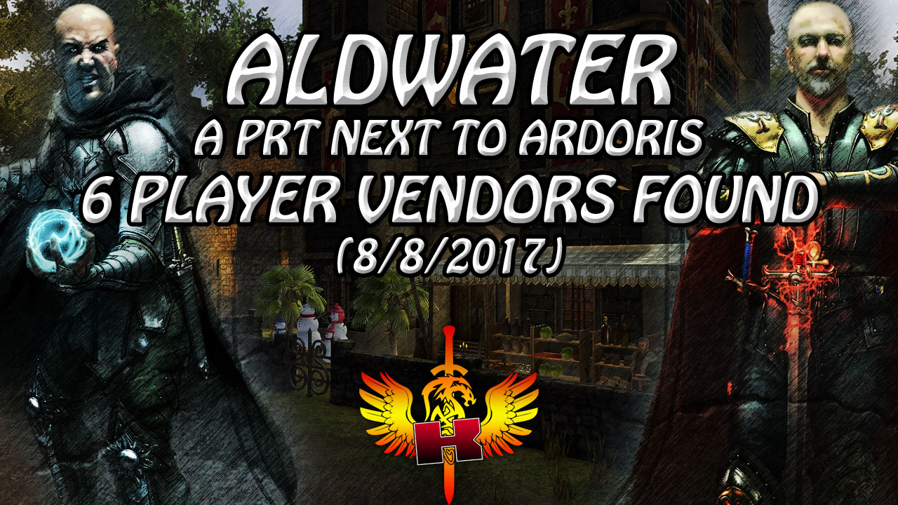 Shroud of the Avatar Market Watch 💰 Aldwater, Player Run Town, 6 Player Vendors Found (8/8/2017)