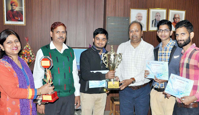 First award to YMCA University in science competition
