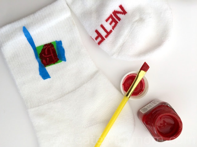 Adding Monogram to Socks