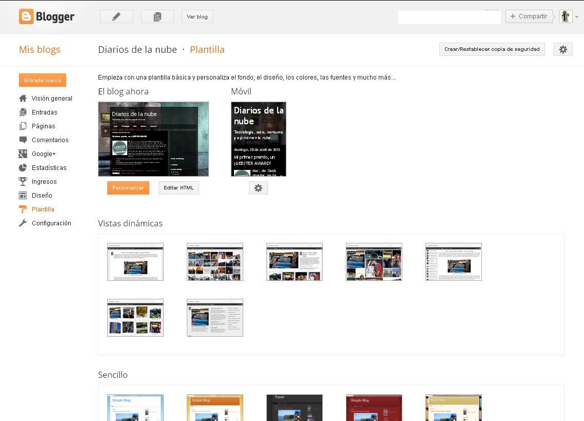 Cómo realizar una copia de seguridad en Blogger. Recupera entradas ...