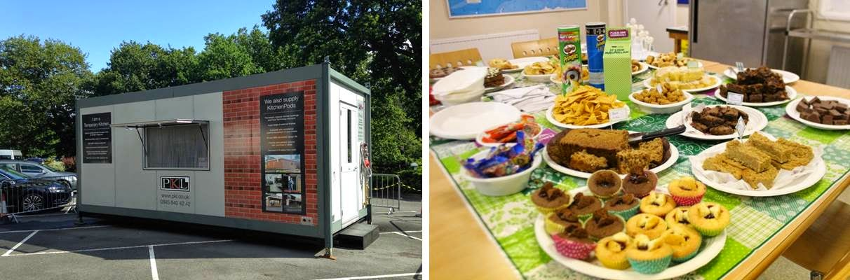 PKL A-Z of 2014 - Temporary LACA kitchen and Macmillan cake sale