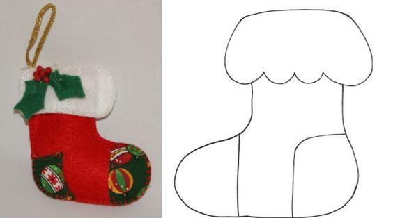 DIY - Decoração de Natal Com Feltro Super Fácil de Fazer Com Moldes 27