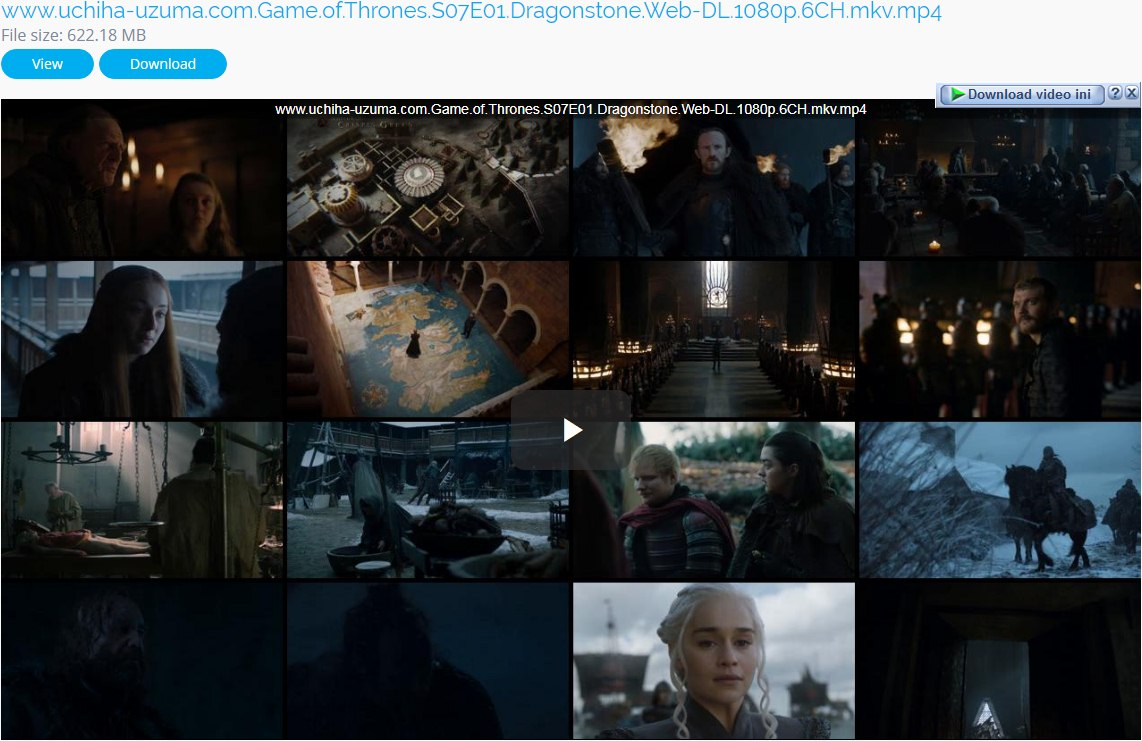 Download Free Full Movie TV Show Game Of Thrones Season 7 (2017) Episode 01 WEB-DL 1080p 720p 480p 360p MKV MP4 6CH Subtitle English - Indonesia