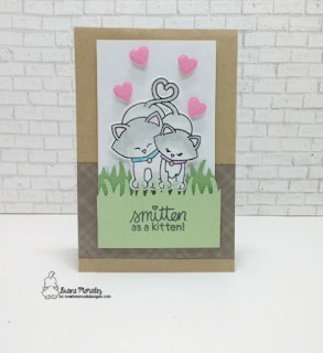 Smitten a card by Diane Morales| Newton's Sweetheart Stamp Set by Newton Nook Designs