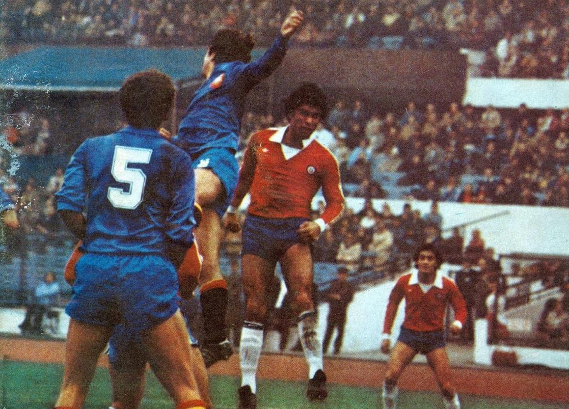 Chile y España en partido amistoso, 5 de julio de 1981