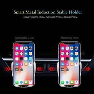 supporto per telefono caricatore per auto wireless morsetto automatico s5