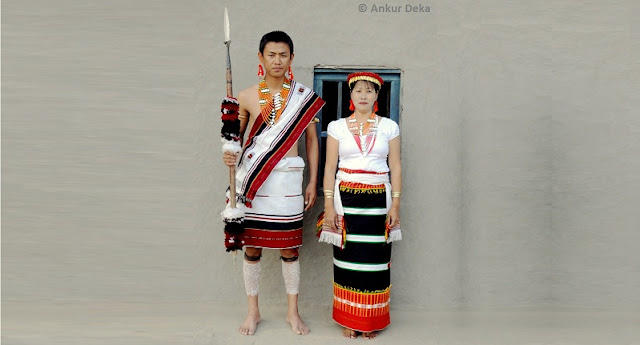 Liangmai Naga Couple - photo by Ankur Deka