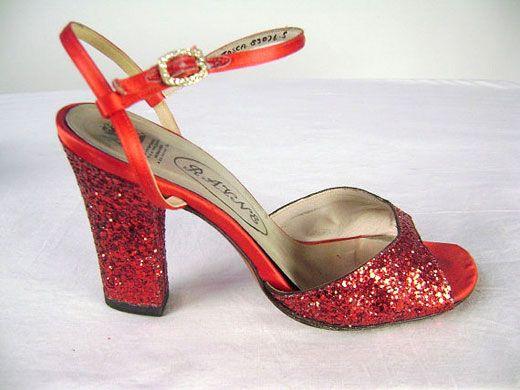 Glitter Court Shoes Black