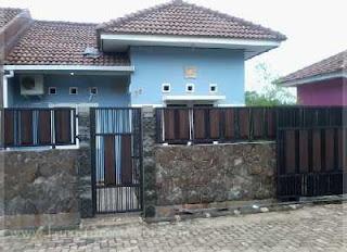 desain gambar pagar rumah minimalis batu alam templek
