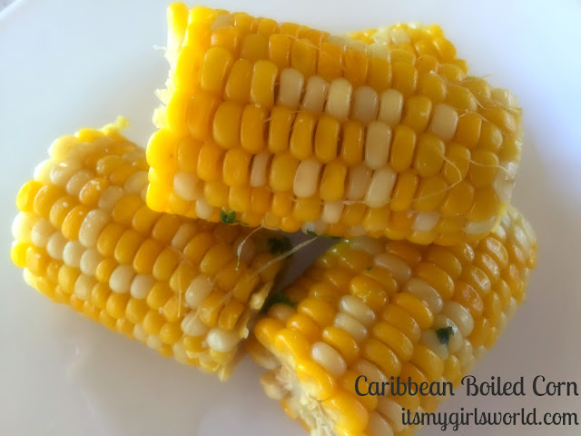 Caribbean boiled corn