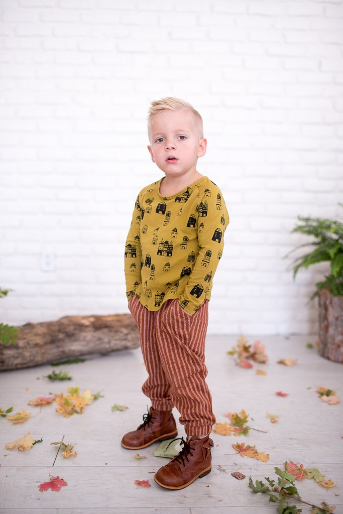 Fin & Vince AW16 kids fashion collection - striped pants