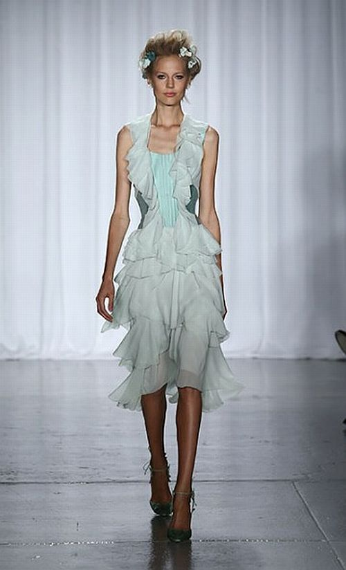 amazing and romantic mint Zac Posen dress, S/S 2014