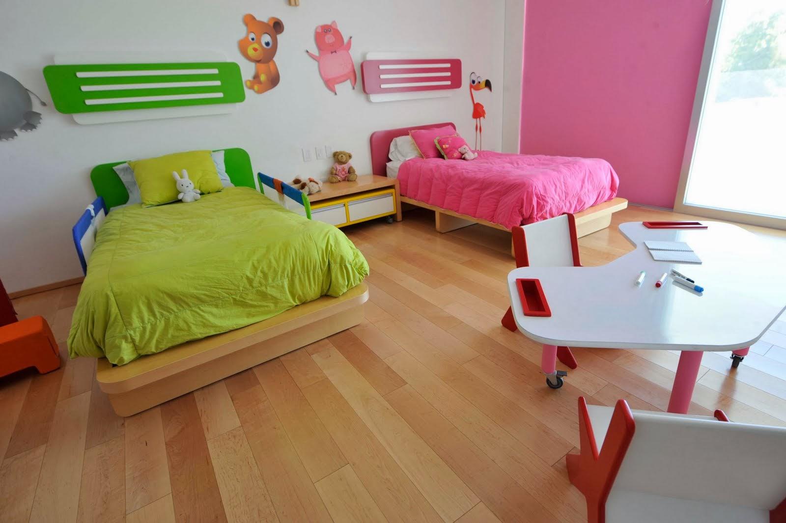 Dormitorio infantil mixto dormitorios compartidos para - Decorar paredes ninos ...